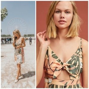 Anthropologie Dresses - Anthropologie Farm Rio Palm Mini Dress